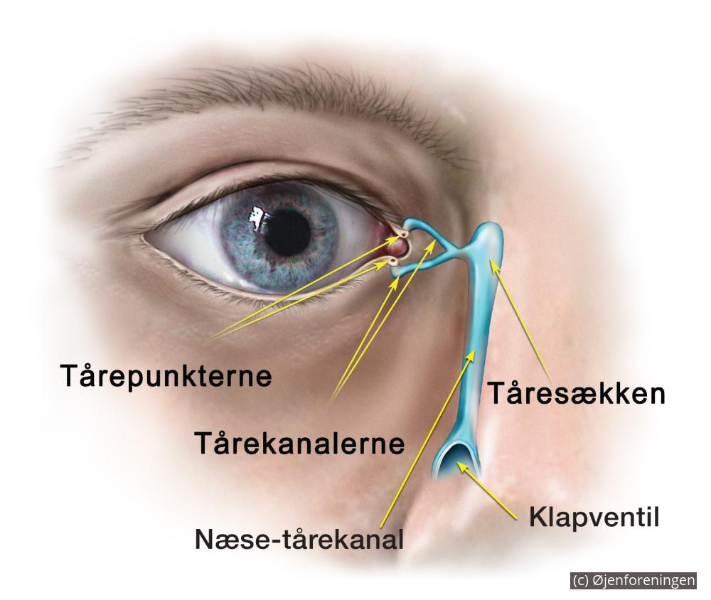 rindende øjne behandling